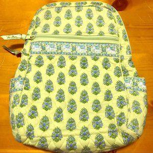 Vera Bradley Green Elephant Backpack-Retired 2007